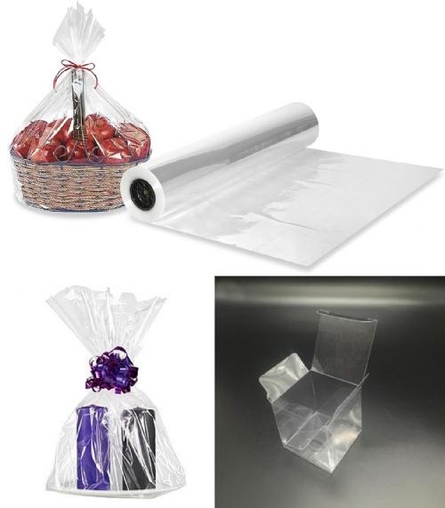 Pak din gave ind i gennemsigtig indpakning